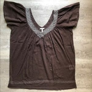 Joie cotton brown tunic size M
